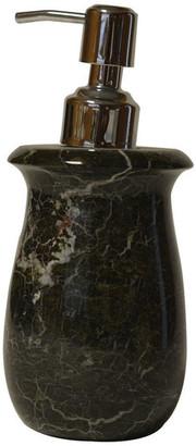 Rembrandt Home Polished Marble Bathroom Soap/Lotion Dispenser, Black Zebra