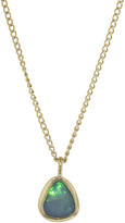 Melissa Joy Manning Limited Edition Tiny Drop Opal Necklace - Yellow Gold