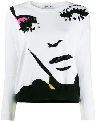Liu Jo face print jumper