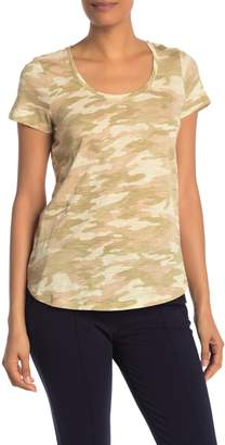Vince Camuto Camo Scoop Neck T-Shirt