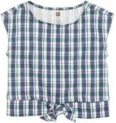Tea Collection Print Bow Waist Tee (Toddler Girls, Little Girls & Big Girls)
