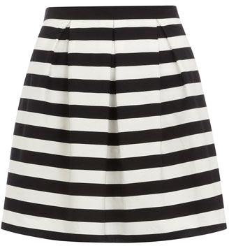 Dorothy Perkins Petite black stripe prom skirt