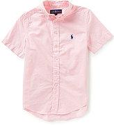 Ralph Lauren Big Boys 8-20 Solid Short-Sleeve Twill Shirt