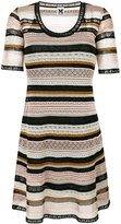 M Missoni scoop neck knitted dress - women - Cotton/Viscose/Polyamide/Polyester - 38