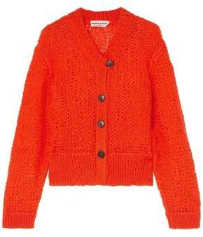 Sonia Rykiel Open-knit Mohair-blend Cardigan