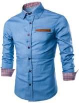 Tootu Home Clothing Tootu Luxury Mens Casual Slim Fit Long Sleeve Casual Formal Dress Shirts Tops