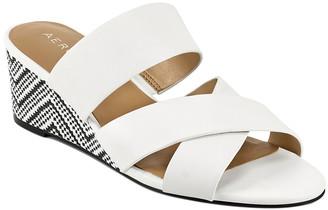 Aerosoles Women's Sandals WHITE - White & Black Contrast Westfield Leather Sandal - Women