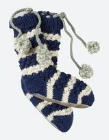 Fat Face Stripe Knit Bed Socks