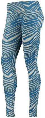 Women's Zubaz Blue/Silver Detroit Lions Leggings