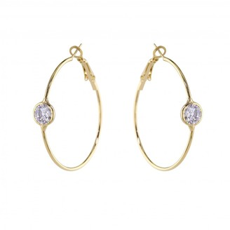 Love Rocks Hoop With Cz Solitaire Centre
