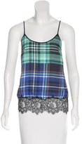 Clover Canyon Lace-Trimmed Plaid Top w/ Tags