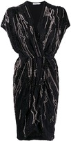 Amen embellished wrap dress