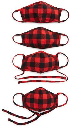Nordstrom Buffalo Check 4-Pack Family Face Masks