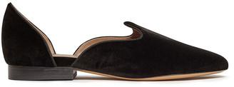 Le Monde Beryl Black Velvet D Orsay Venetian Slipper