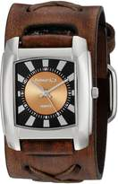 Nemesis Women's 049BFXB-N Sunshine Series Faded X Leather Cuff Band Analog Display Japanese Quartz Brown Watch