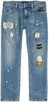 Scotch & Soda Dean boy regular fit jeans with fancy patches