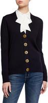 Tory Burch Simone Button-Front Wool Cardigan