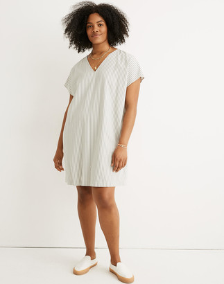 Madewell Button-Back Easy Dress in Stripe
