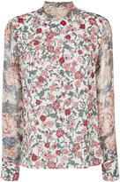 See by Chloe floral print neck tie blouse