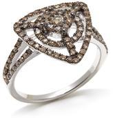 0.65ctw Triangular Champagne Diamond Ring