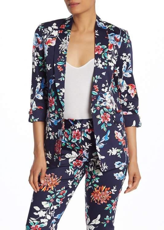 Laundry by Shelli Segal Shawl Collar Floral Blazer