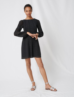Maje Pleated and embroidered dress