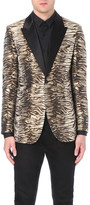 Saint Laurent Jacquard tiger-print woven jacket