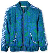 Stella McCartney blue patti paisley bomber jacket