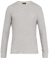 A.P.C. Dennis cotton-blend waffle-knit jersey sweatshirt