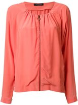 Roberto Collina blouse zipped jacket - women - Silk - XS