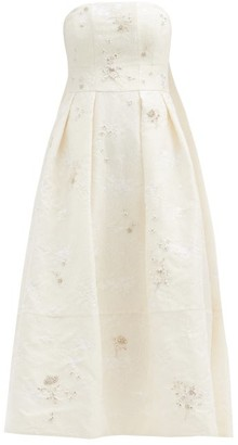Erdem Alina Crystal-embellished Chantilly-lace Dress - Ivory