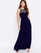 Little Mistress High Neck Embellished Maxi Dress