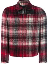 Valentino buckled check bomber jacket