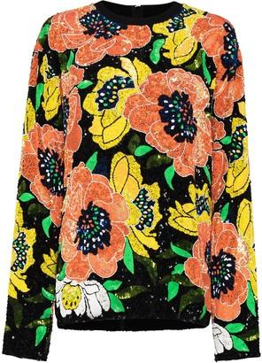 Ashish Floral-Motif Sequin-Embellished Sweatshirt