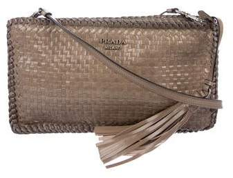 66bf82abd0cbd6 Prada Woven Leather Bag - ShopStyle