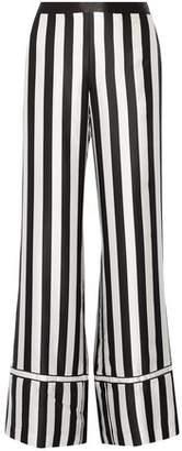 La Ligne Striped Silk-satin Wide-leg Pants