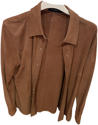 Burberry Camel Suede Jackets