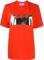 MSGM metallic logo cotton T-shirt