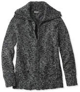 L.L. Bean Cotton Ragg Sweater, Marled Zip-Front Cardigan