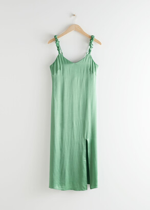 And other stories Scrunchie Strap Midi Dress