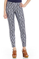 MICHAEL Michael Kors Graphic Mamba Snakeskin Print Stretch Twill Knit Leggings
