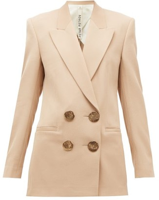 Petar Petrov Jimi Double-breasted Wool-twill Jacket - Nude