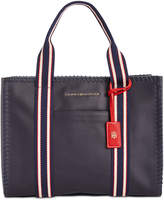 Tommy Hilfiger Eliza Coated Canvas Whipstitch Small Tote