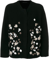 Ermanno Scervino oversized floral embroidered cardigan