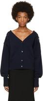 Chloé Navy Lace Shoulder Cardigan