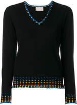 Peter Pilotto multicolour trim sweater