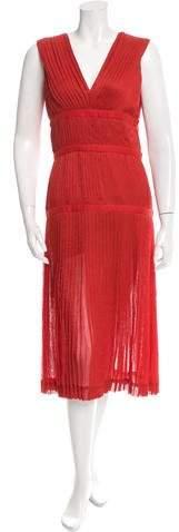 Altuzarra Pleated V-Neck Dress w/ Tags