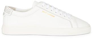 Saint Laurent Andy Low Top Stud Sneakers in Blanc Optique | FWRD