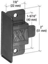 "CR Laurence CRL Black Sliding Window Latch and Pull With 1-9/16"" Screw Holes for Window Master Series 216 Windows"