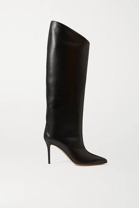 Alexandre Vauthier Alex Leather Knee Boots - Black